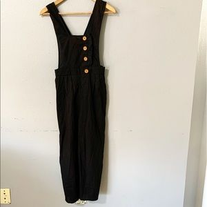 Favlux Fashion Black Linen Like Jumpsuit